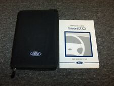 2001 Ford Escort Sedan & ZX2 Coupe Owner Owner's Operator Guide Manual Set 2.0L