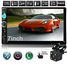 7'' HD 2DIN Bluetooth Touch Car Stereo Radio MP5/MP3 Player USB/AUX/TF/FM+Camera