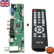Universal Board TV Motherboard LCD Controller VGA/HDMI/AV/TV/USB Interface Green