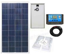100w Poly Solar Panel Battery Charging Kit Controller & Mounting Bracket SetK2