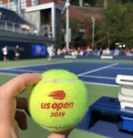 US OPEN Tennis Ball OFFICIAL STADIUM EVENT Game USED Women Red NEW YORK Ashe NY