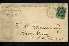 US Postal History Railroad #184 NY Lake Erie & Western 1881 to Port Jervis Train