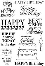 Woodware Clear Magic Singles Stamp - Plenty of Birthdays JGS505