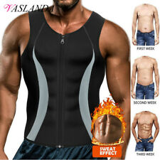 Men Waist Trainer Sauna Suit Weight Loss Sweat Shirts Vest Body Shaper Tank Tops