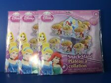 3 DISNEY PRINCESS CUPCAKE STAND SNACK HOLDER 2 TIERED TABLE CENTERPIECE LOT