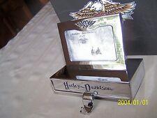 2006 Harley-Davidson Chrome Bar & Shield Photo Frame Stocking Holder NEW/BOX/