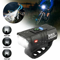 T6 Bicycle Front Light Rechargeable USB Headlamp Headlight Bike LED Lamp Cycling