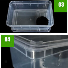 Transparent Feeding Box Insect Reptile Transport Breeding Cage H3