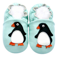 Prewalk Soft Sole Leather Baby Shoes Gift Infant Kid BoyGirl PenguinBlue 18-24M