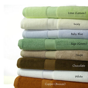 Super Soft Bamboo 6PC Towel set blend of Bamboo and Combed Egyptian cotton