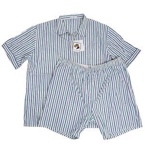 NOVILA Germany Pyjamas Gr 56 Schlafanzug Streifen Baumwolle Sleepwear Pajamas