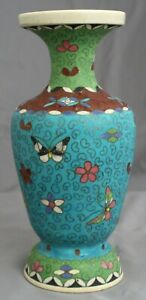 Toritei Marked Japanese Meiji Totai Shippo Cloisonne Kinkozan Kyoto Satsuma Vase