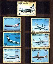 CAMBODIA 1991 SC# 1152-1158 MNH - AIRCRAFT - AVIATION