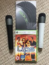 Brand New Lips Singing Game For Xbox 360 Inc 2 X Genuine Microsoft Microphones