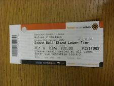 02/01/2012 Ticket: Wolverhampton Wanderers v Chelsea  (folded). Thanks for viewi