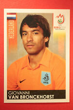 Panini EURO 2008 N. 265 VAN BRONCKHORST NEDERLAND NEW With BLACK BACK TOPMINT !!
