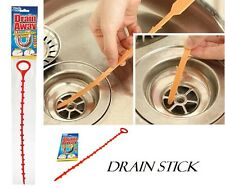 DRAIN UNBLOCKER STICK CLEANING HAIR REMOVEL CLEANER SINK SHOWER BATH TOOL ZT1103