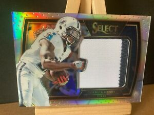 DERRICK HENRY NFL 2016 SELECT JUMBO ROOKIE SWATCHES PRIZM #/99 (TENNESSEE TITANS