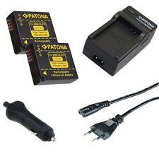 2x Batteria Patona + caricabatteria casa/auto per Panasonic Lumix DC-TZ90