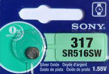 1 PILE SR516SW / SR516 / 317 / 1,55V SONY / ENVOI RAPIDE