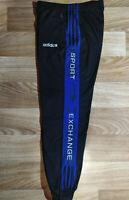 Adidas Exchange 90's Vintage Mens Track Pants Trousers Hype Training Black Blue