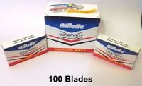 100 Pcs GILLETTE WILKINSON SWORD RAZOR BLADES Double Edge Safety Razor Blade****
