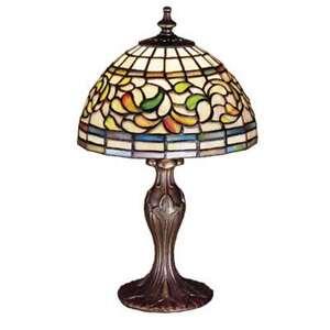Meyda Lighting 13.5'H Turning Leaf Mini Lamp, Bapa 59R - 30314