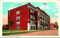 "Antique Postcard  MINOT North Dakota  ""MINOT HIGH SCHOOL""  CHURCH"