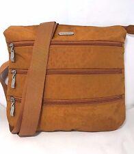 BAGGALLINI Orange Rust Nylon Travel Bag Big Zipper Bagg Crossbody Purse