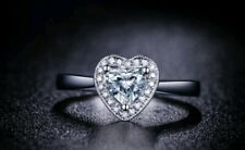 Stunning 2ct Cubic Zirconia Heart Ring Size K.
