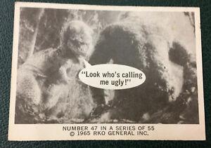Vintage KING KONG 1965 RKO trading card  puzzle back with Godzilla 47 of 55