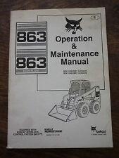 Bobcat 863 funzionamento manuale di manutenzione-DIC 1999 (MELROE) 6900937 High Flow