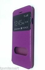 "Flip Slim Window Purple Violet Case Cover for Apple iPhone 6 5.5"" Inch Phone UK"
