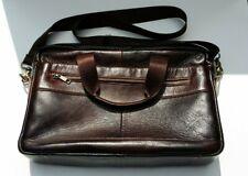 Men's Leather Brown Bag for Briefcase Laptop Handbag Business Shoulder Case .