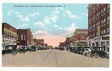 Chickasha,Oklahoma,Chickasha Ave.Looking East,Grady County,c.1918-30s