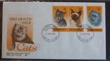 1983 NEW ZEALAND CATS SET OF 3 STAMPS FDC FIRST DAY COVER