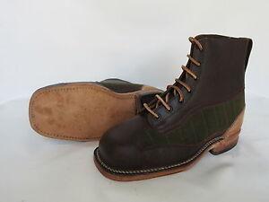Army Service Boots Schnürstiefel True Vintage Leder Stiefel Original Heritage 42