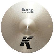 """Zildjian K0904 18"""" K Dark Crash Thin Drumset Cast Bronze Cymbal Low Pitch - Used"""
