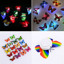 7 Colors Changing Butterfly LED Light Night Mood Lamp Fairy Garden Party Decor