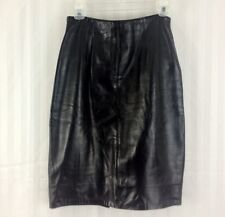 LANNA Soft Black Leather Straight Pencil Skirt Size 8