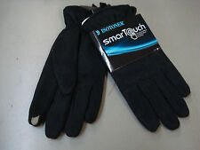NWT Men's Isotoner Smartouch Touchscreen Compatible Gloves Size Large Black