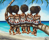 fiji art print beach island painting by Andy Baker  Limited coa signed