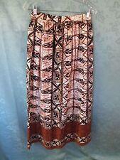 VIntage 60's Bark Cloth Skirt Size 8 Tropical Luau Hostess Maxi Handmade OOAK