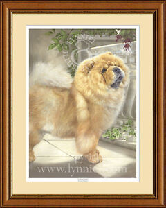 CHOW CHOW limited edition fine art dog print 'Scent of Home'