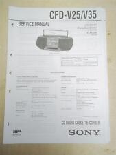 Sony Service Manual~CFD-V25/V35 CD Radio Cassette-Corder Boombox~Original~Repair