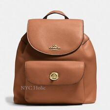 New Coach F37621 Mini Billie Backpack In Pebble Leather Saddle NWT