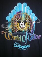 Large Woman's California Adventure World of Color Tee Shirt NWT Disney