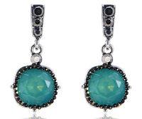 1 pair Elegant Green Crystal Rhinestone  Ear Drop Dangle Stud long  Earrings 34