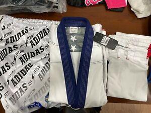 adidas Stars & Stripes A1 Jiu Jitsu Gi White w/Gi Bag
