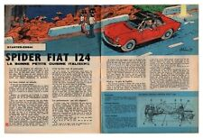 1968 DOCUMENT (ref Ips 1581)  AUTO : SPIDER FIAT 124    2 pages